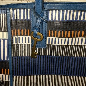 Fossil Bags - Fossil Emma tote bag purse blue print LKN